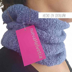 Cuello Tubo Simple Celeste